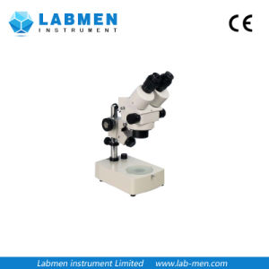 Zoom Stereoscopic Microscope with Upright Three-Dimensional Images pictures & photos