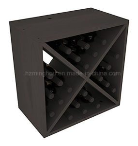 Size Custom Pine Wood 24-Bottle Display Storage Wine Cube Rack pictures & photos