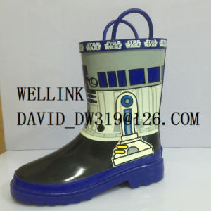 Fashion Style Kids High Quality Rubber Rainboots pictures & photos
