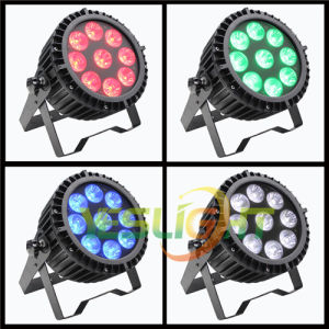 New LED Flat PAR Light 9PCS*18W UV+RGBWA LED PAR 64 for Disco Light pictures & photos