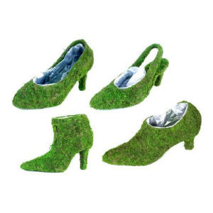 Moss Shoe Planters-Shoe Baskets-Moss Shoe-Moss Boot-Moss Planters-Moss Pump-Sling Back Moss Shoe pictures & photos