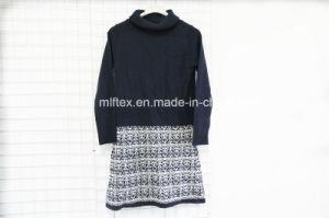 Turtleneck Long Velvet Sweater for Women pictures & photos