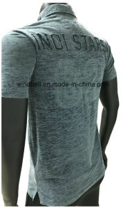 Cotton Polo T-Shirt for Men with Dirty Wash pictures & photos