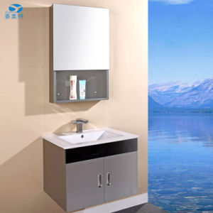 Stainless Steel Bathroom Cabinet Vanity with High Grade Ceramic pictures & photos