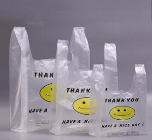 Plastic T-Shirt Bags with Printing pictures & photos