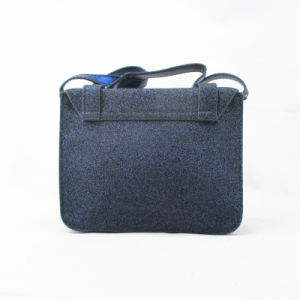 Fashion Navy Blue Glitter PU Cross Body Bag pictures & photos