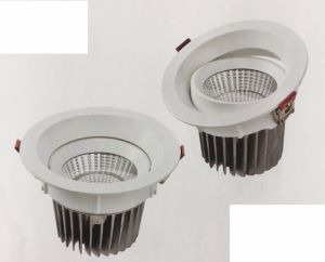 Die Cast Aluminum 16 Round Tilt Recessed LED Downlight COB pictures & photos