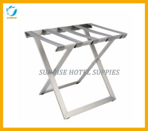 5 Star Hotel Stainless Steel Luggage Rack with Chrome Finish pictures & photos
