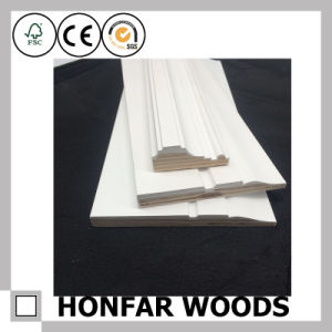Construction Material LVL Primed Skirting Board for Hotel Project pictures & photos