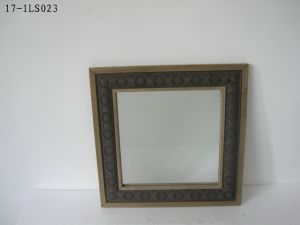 The Hanging Iron Wood Frame Mirror, Home Decoration and Gift pictures & photos
