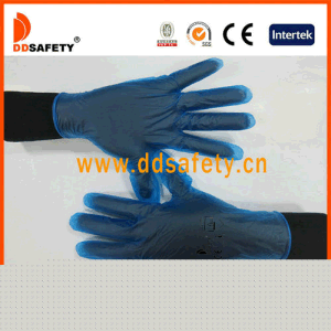 Ddsafety 2017 Clear Vinyl Exam Gloves Owder or Powder Free Blue Color pictures & photos