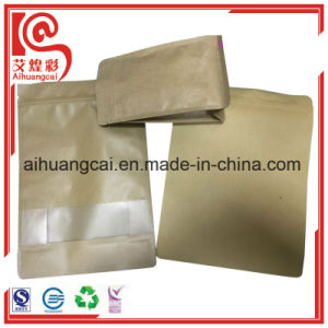 Bottom Flat and Side Seal Gusset Kraft Paper Plastic Bag pictures & photos