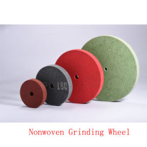 "10""X2"" 6p Non Woven Grinding Disc Green Scourer Pad Flap Disc pictures & photos"