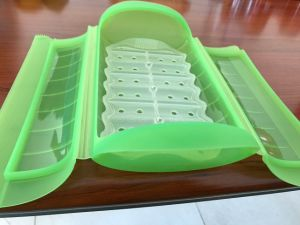 Microwave Oven Healthy Cooking Silicone Steamer Lunch Box pictures & photos