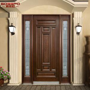 1d+2SL American Style Home Exterior Front Door Swing in (GSP1-035) pictures & photos