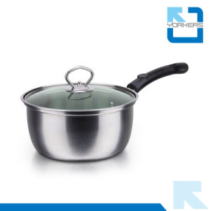 Cheap Stainless Steel Single Handle Milk Boiling Pot pictures & photos