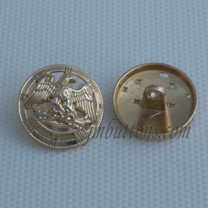 Hollow Design Fancy Gold Alloy Shank Sew Button pictures & photos