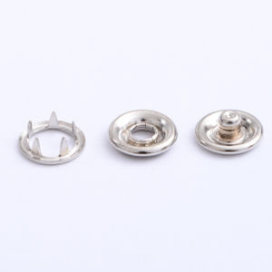 Brass Material Snap Ring Button pictures & photos