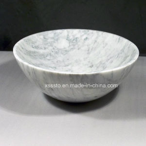 Customized White Carrara Marble Sink for Bathroom pictures & photos