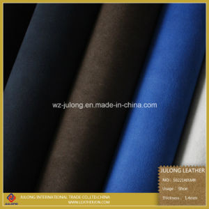Double Sides Flocking Leather for Shoes and Boots (S022) pictures & photos