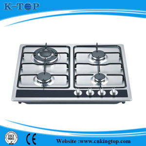 4burner Good Quality S/S Natural Gas Embedded Stove