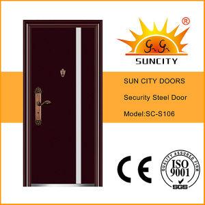 Hot Sell Steel Main Door Design (SC-S106) pictures & photos