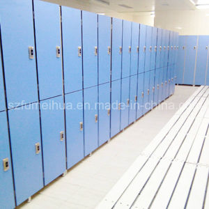4 Doors HPL Laminate Resin Gym Locker for Denmark Club pictures & photos