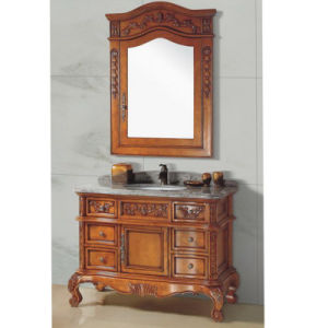 Luxury Eurpean Style Solid Wood Bathroom Cabinet Nj-625) pictures & photos