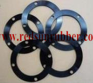 Custom Metal Coated Rubber Flange Gasket pictures & photos