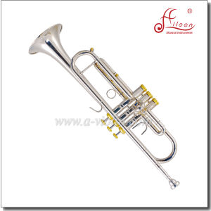 Bb Key Stainless Steel Piston Yellow Brass Jinbao Trumpet pictures & photos