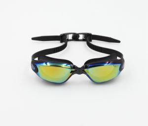 Black Mirror UV Anti Fog Adult Silicone Swimming Goggles (MM-7904) pictures & photos