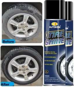 500ml Silicone Tyre Shine Polish for Tyre pictures & photos