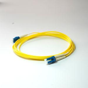 LC_LC PVC Jacket Duplex Sm Fiber Optic Patch Cord pictures & photos
