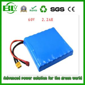 2200mAh 60V 132W Lithium Battery Pack for Unicycle Wheelbarrow pictures & photos