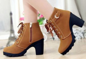 High Leather Women Boot/ Artificial Leather Boot for Women pictures & photos