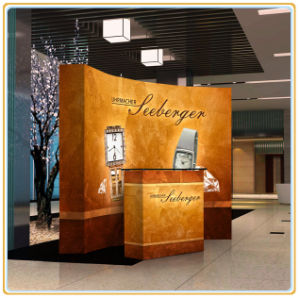 Trade Show Tension Fabric Curved Pop up Stand (10ft curved) pictures & photos