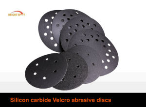 Silicon Carbide Hook & Loop Abrasive Paper Discs pictures & photos