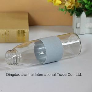 Colorful Glass Water Bottle with Silica Gel Loop and Single Box Package pictures & photos