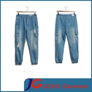 Cropped Pants Size Jeans Man Elastic Jeans Clothes (JC3385) pictures & photos