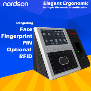 Easy to Use Multi-Biometric Professional Face and Fingerprint Time Attendance with Access Control pictures & photos