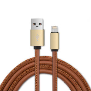Leather USB Cable with One Head for iPhone and Android pictures & photos
