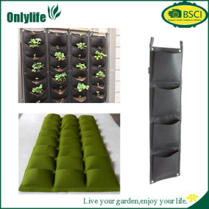 Eco-Friendly Multi-Pocket PE Fabric Vertical Garden Hanging Planter pictures & photos
