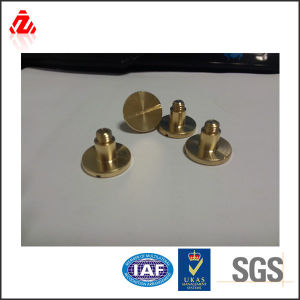 Brass Slotted Round Head Bolt Made in China pictures & photos