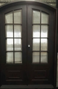 Wrought Iron Double French Style Door with Arch Top pictures & photos