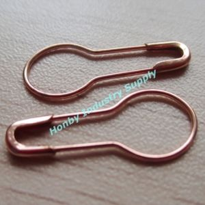 2016 New Copper Color 22mm Coiless Pear Safety Pin pictures & photos