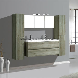 Melamine MDF Bathroom Vanities with Side Cabinet Resin Sink Cabinet pictures & photos