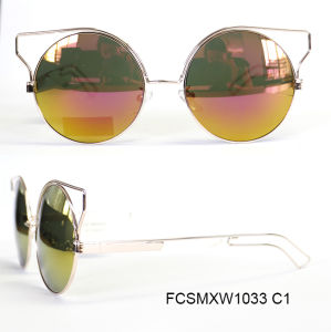 Newly Fashion Revo Coated High Quality Metal Sunglasses for Lady pictures & photos