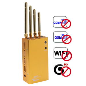 Golden Portable WiFi Cell Phone Signal Jammer