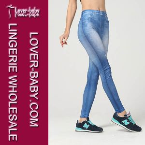 Women Sexy Tight Leggings Plain Blue Jeggings & Leggings L97037 pictures & photos