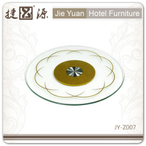 Hot Sell Christmas Gift Tempered Glass Lazy Susan Turntable (JY-Z007) pictures & photos